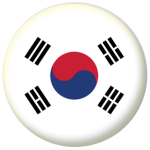 South Korea Country Flag 58mm Button Badge